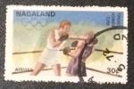 Stamps Nagaland -  Munich 72 - Boxeo