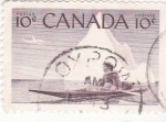 Stamps Canada -  Kajak