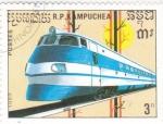 Stamps Cambodia -  tren de alt velocidad