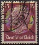 Sellos de Europa - Alemania -  DEUTSCHES REICH 1933 Scott423 SELLO 85 Cumpleaños de Von Hindenburg Usado ALEMANIA Michel520
