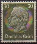 Sellos de Europa - Alemania -  DEUTSCHES REICH 1933 Scott426 SELLO 85 Cumpleaños de Von Hindenburg Usado ALEMANIA Michel523