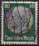 Sellos de Europa - Alemania -  DEUTSCHES REICH 1933 Scott428 SELLO 85 Cumpleaños de Von Hindenburg Usado ALEMANIA Michel525