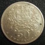 monedas de Europa - Portugal -  1958 (Reverso)