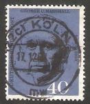 Stamps Germany -  217 - Anivº de la muerte del general americano George  D. Marshall