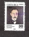 Sellos de America - Costa Rica -  Centenario de la Muerte de José Martí