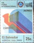 Stamps : America : El_Salvador :  Intercambio 0,20 usd 25 cents. 1978