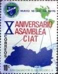 Stamps : America : El_Salvador :  Intercambio 0,20 usd 10 cents. 1976