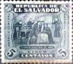 Sellos del Mundo : America : El_Salvador : Intercambio 0,20 usd 5 cent. 1924