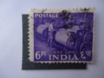 Stamps India -  Cilindros de Papel.