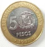 monedas de America - Rep Dominicana -  1997 (Reverso)