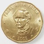 monedas de America - Rep Dominicana -  2002 (Anverso)