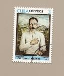 Stamps of the world : Cuba :  Pintores Cubanos - retrato de José Martí - Jorge  Arche Silva
