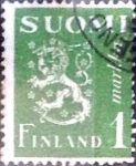 Stamps : Europe : Finland :  Intercambio agm 0,20 usd 1 m. 1942