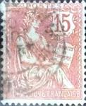 Sellos de Europa - Francia -  Intercambio 0,60  usd 15 cent. 1902