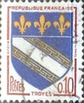 Stamps France -  Intercambio 0,20  usd 10 cent. 1963