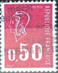 Stamps France -  Intercambio 0,20  usd 50 cent. 1971