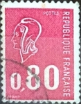 Stamps France -  Intercambio 0,20  usd 80 cent. 1974