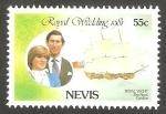 Stamps United Kingdom -  Nevis - 65 - Boda Real del Príncipe Carlos y Lady Diana Spencer