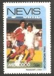 Sellos de Europa - Reino Unido -  Nevis - Mundial de fútbol México 86, partido Paraguay Chile