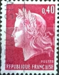 Stamps France -  Intercambio 0,20  usd 40 cent.  1969