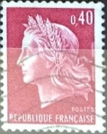 Stamps : Europe : France :  Intercambio 0,20  usd 40 cent.  1969