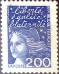 Stamps : Europe : France :  Intercambio jxn 0,30  usd 2 francos  1997