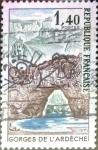 Sellos de Europa - Francia -  Intercambio 0,20 usd 1,40 francos 1971