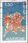 Stamps France -  Intercambio jxn 0,50 usd 1,30 francos 1975