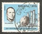 Stamps : America : Bolivia :  292 - XXV anivº de la inmolación del presidente Gualberto Villarroel