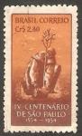 Stamps Brazil -   IV Centº de la fundación de San Pablo, Padre José de Anchieta