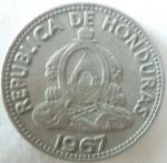 monedas de America - Honduras -  1967 (Anverso)