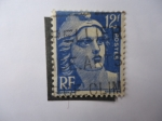 Stamps France -  Marianne de Gandon.
