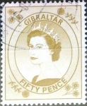 Stamps : Europe : Gibraltar :  Intercambio jxa 1,90 usd 50 p. 1999