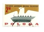 Stamps Poland -  Transporte anfibio de tropas. 20 Aniv. de la armada.