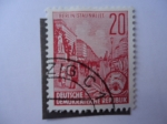 Sellos de Europa - Alemania -  DDR - Avenida Stalin -Berlin- Fünfjahresplan.