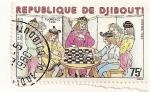 Stamps Djibouti -  CReacion de la federacion de juego de ajedrez.