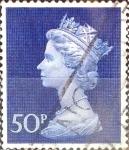 Stamps United Kingdom -  Intercambio 0,60 usd 50 p. 1970