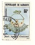 Stamps Africa - Djibouti -  Arte local. Collar