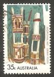 Stamps Australia -  446 - Arte aborígene, recipientes mortuorios