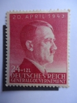 Stamps Germany -  Adolfo Hitler - Deutsches Reich-Generalgouvernement