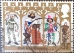 Stamps United Kingdom -  Intercambio 0,35 usd 3,5 p. 1973