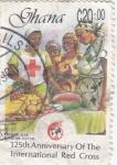 Sellos de Africa - Ghana -  125 aniversario de Cruz Roja Internacional
