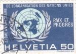 Stamps Switzerland -  25 aniversario de las Naciones Unidas