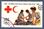 Sellos del Mundo : America : Chile : 125 años de la Cruz Roja y Media Luna Roja 1863-1988