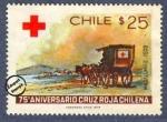 Sellos de America - Chile -  75º Aniversario de la Cruz Roja Chilena