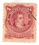 Stamps Argentina -  8c Rivadavia T. II