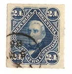 Stamps America - Argentina -  24c. san Martin