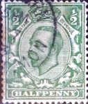 Stamps : Europe : United_Kingdom :  1/2 p. 1912