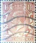 Stamps United Kingdom -  Intercambio 1,10 usd 1,5 p. 1924