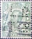 Stamps United Kingdom -  Intercambio 4,50 usd 1/2 p. 1911